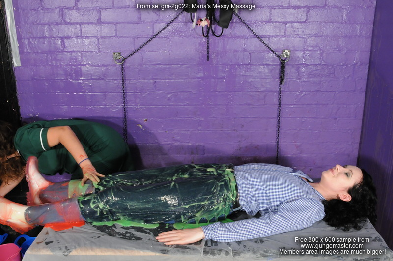 Maria S Messy Massage Uniformed Massuse Maria Gives